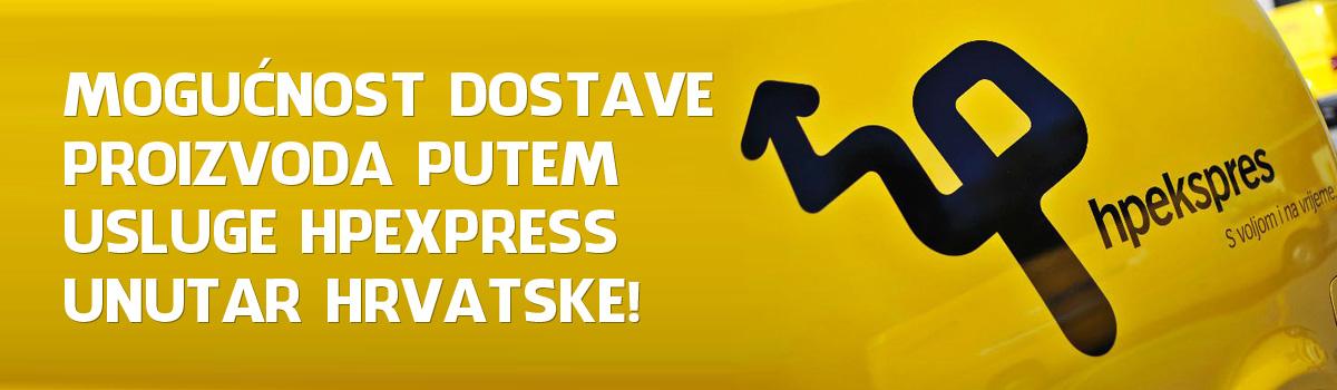 Mogućnost dostave proizvoda putem usluge HPexpress unutar Hrvatske!
